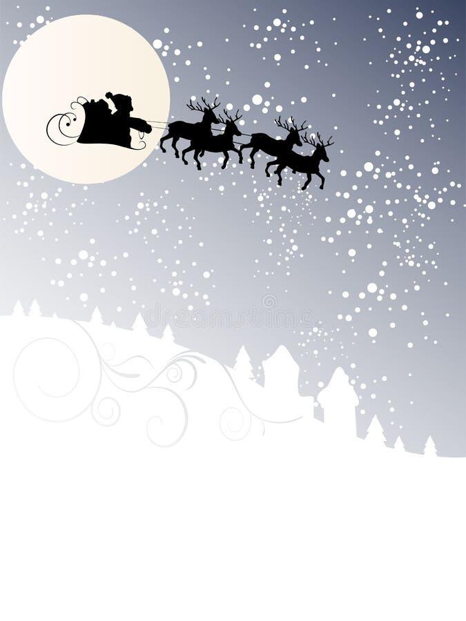 miasto Claus przychodzi Santa royalty ilustracja