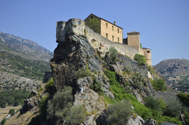 Miasto Corte w Corsica obraz stock