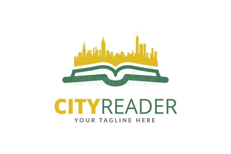 Miasto czytelnika loga projekta szablonu wektor fotografia stock