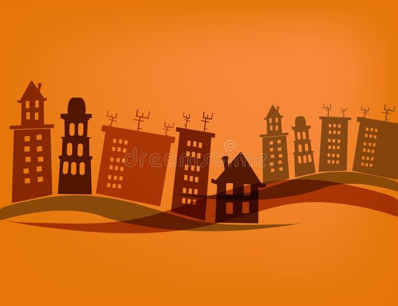 Miasto domy ilustracji