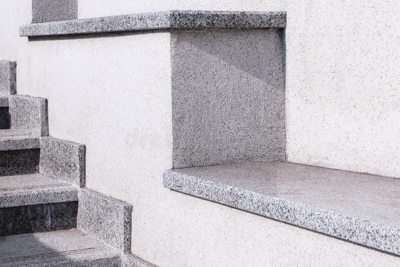 Miasto drabina od szarego granitu i kamienia Drabina w mieście obraz royalty free