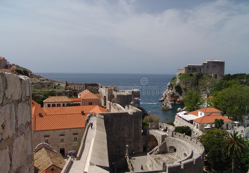 miasto Dubrovnik stary zdjęcie royalty free