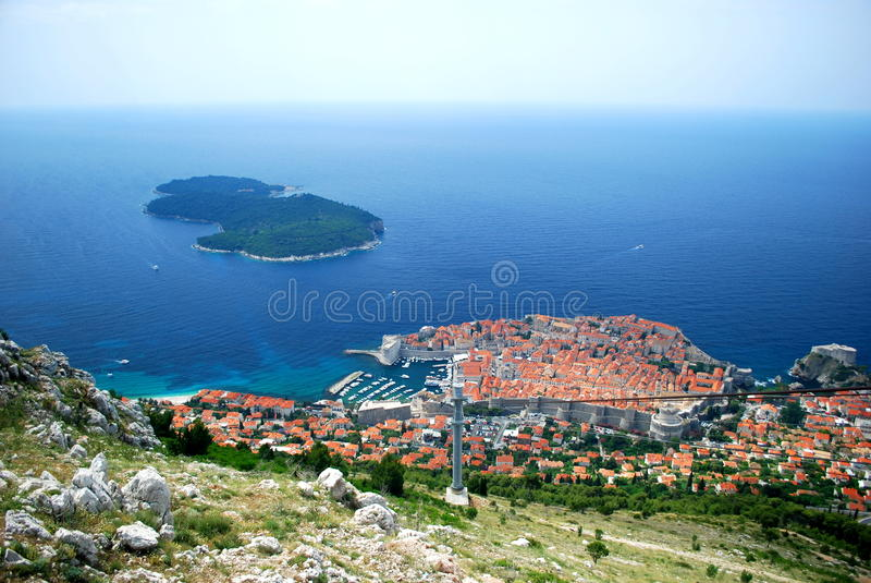 miasto Dubrovnik stary obrazy stock