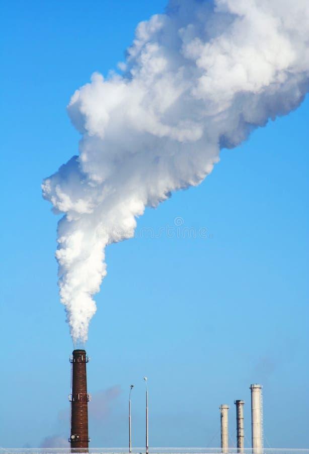miasto dymu zdjęcia royalty free