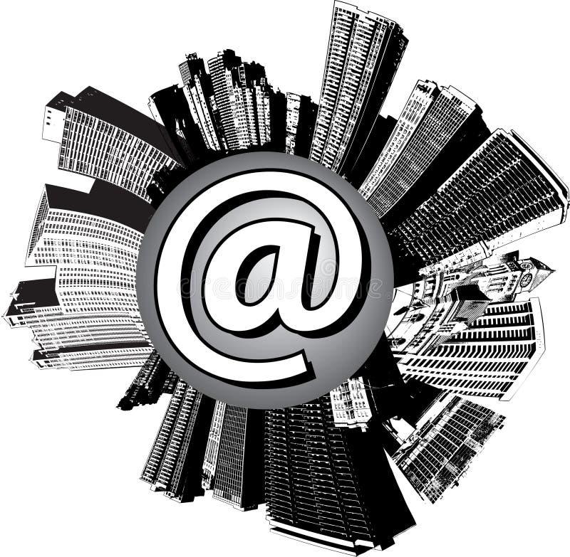 miasto e - mail royalty ilustracja