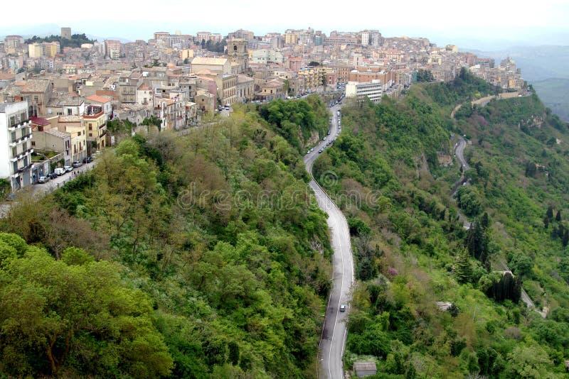 miasto Enna Włoch średniogórza stary Sycylia obrazy royalty free
