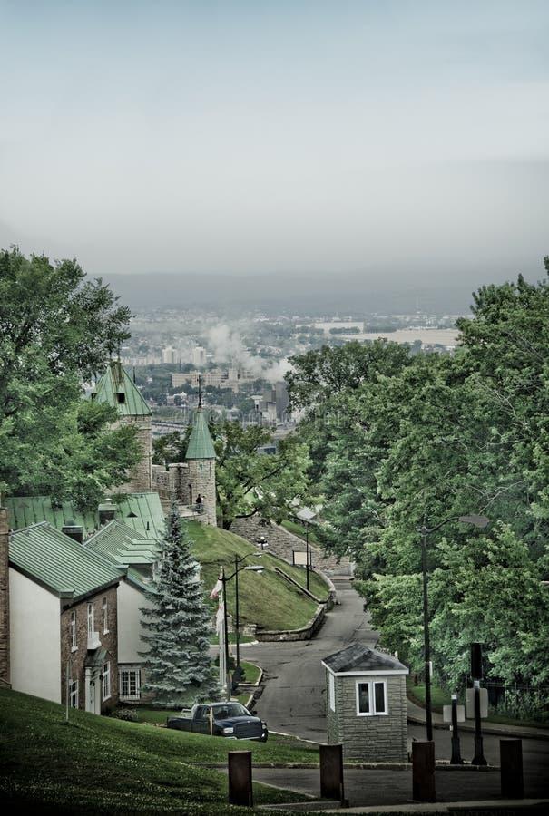 miasto fortyfikacje Quebec zdjęcia royalty free