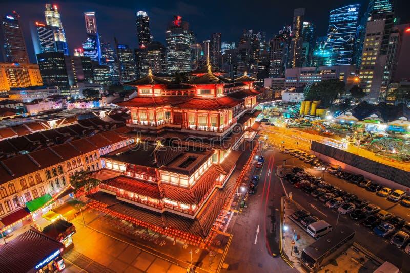 Miasto głąbika niebo Chiński budynek fotografia stock