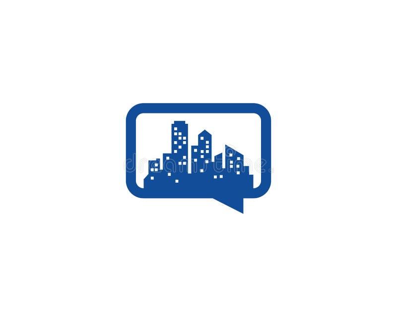 Miasto gadki ikony loga projekta Grodzki element ilustracji