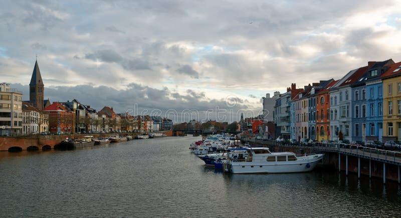 Miasto Ghent w Belgia obrazy royalty free
