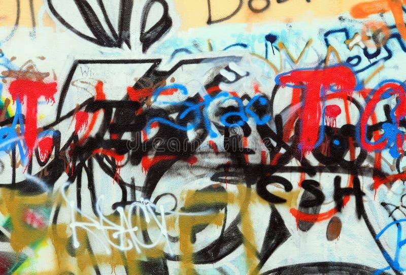 miasto graffiti obraz royalty free