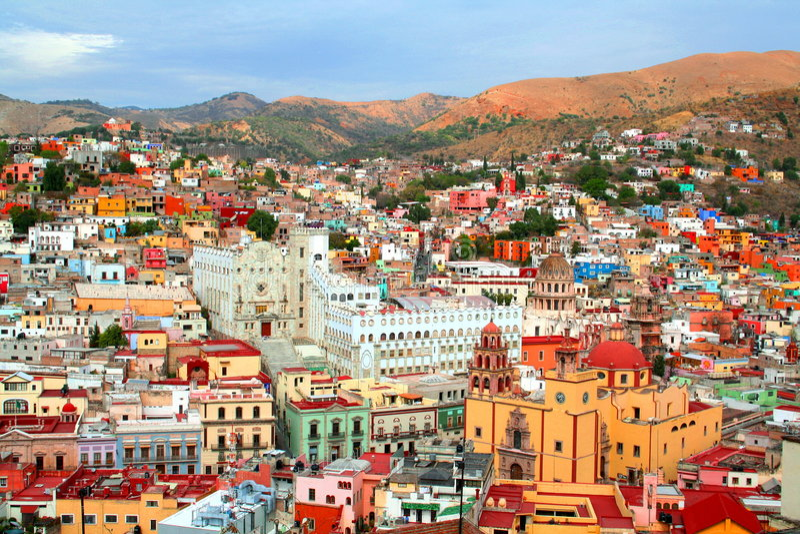 miasto Guanajuato zdjęcia royalty free
