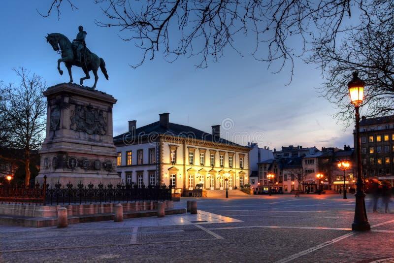 miasto Guillaume ii Luxembourg umieszcza obraz stock