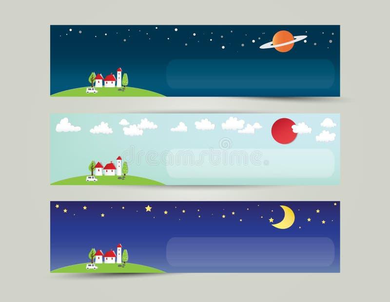 Download Miasto I Wszechrzeczy Sztandar Ilustracja Wektor - Obraz: 33059220
