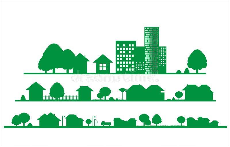 Miasto ikona ilustracja wektor
