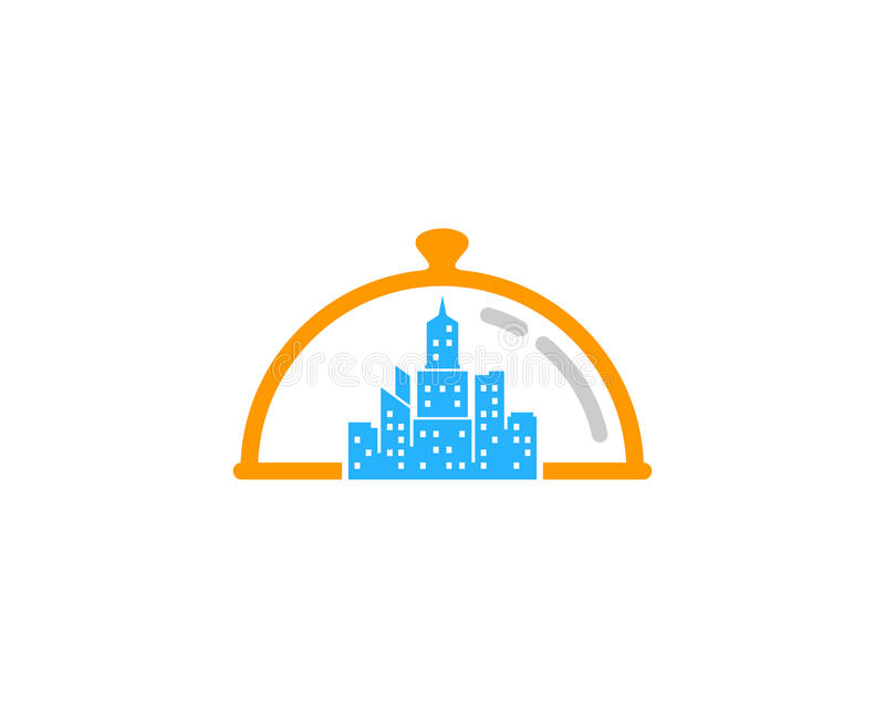 Miasto ikony loga projekta Grodzki Karmowy element ilustracja wektor