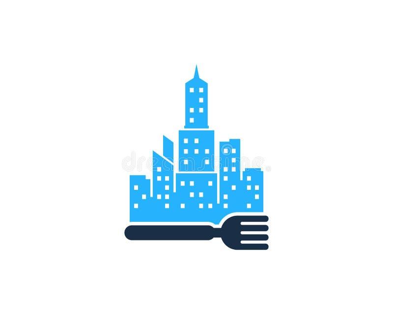 Miasto ikony loga projekta Grodzki Karmowy element royalty ilustracja