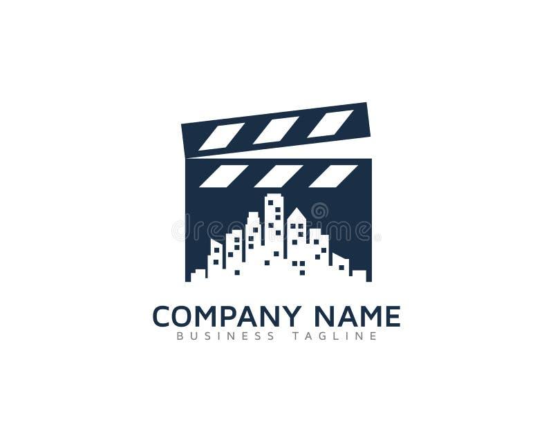 Miasto ikony loga projekta Grodzki Wideo element royalty ilustracja