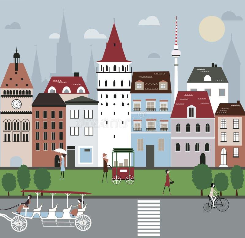 Miasto ilustracja. royalty ilustracja