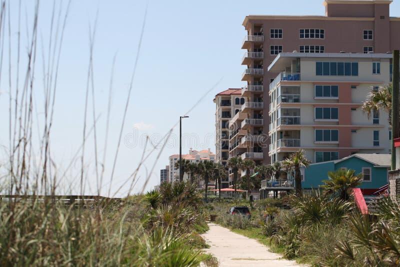 Miasto Jacksonville plaża w Florida obraz stock
