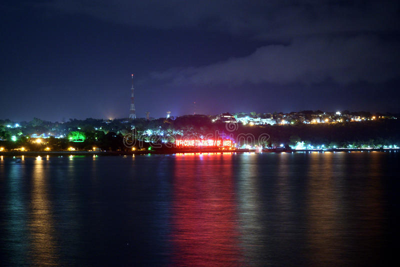 Miasto Jeziorny Bhopal obrazy stock