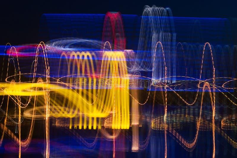 miasto kardiograma noc fotografia royalty free