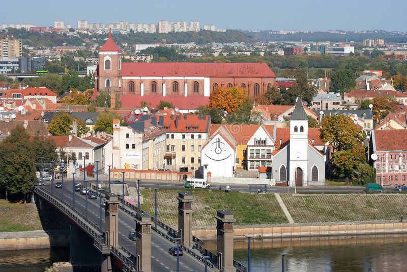 miasto Kaunas zdjęcie stock