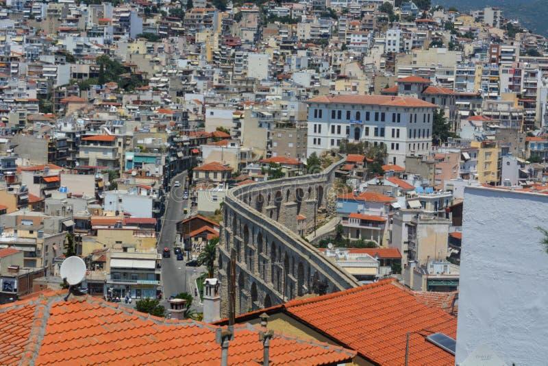 Miasto Kavala, Grecja zdjęcia stock