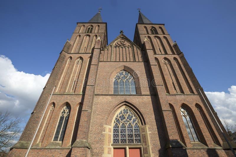 miasto kościół w kleve Germany obraz royalty free