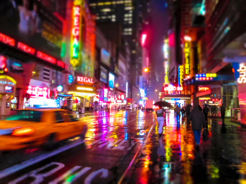 Miasto kolory przy nocą fotografia stock