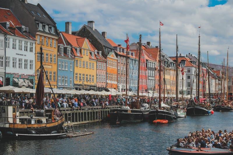 Miasto Kopenhaga piękna ulica obrazy royalty free