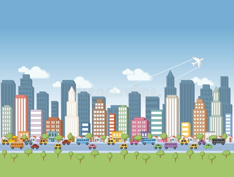 Miasto krajobraz ilustracji