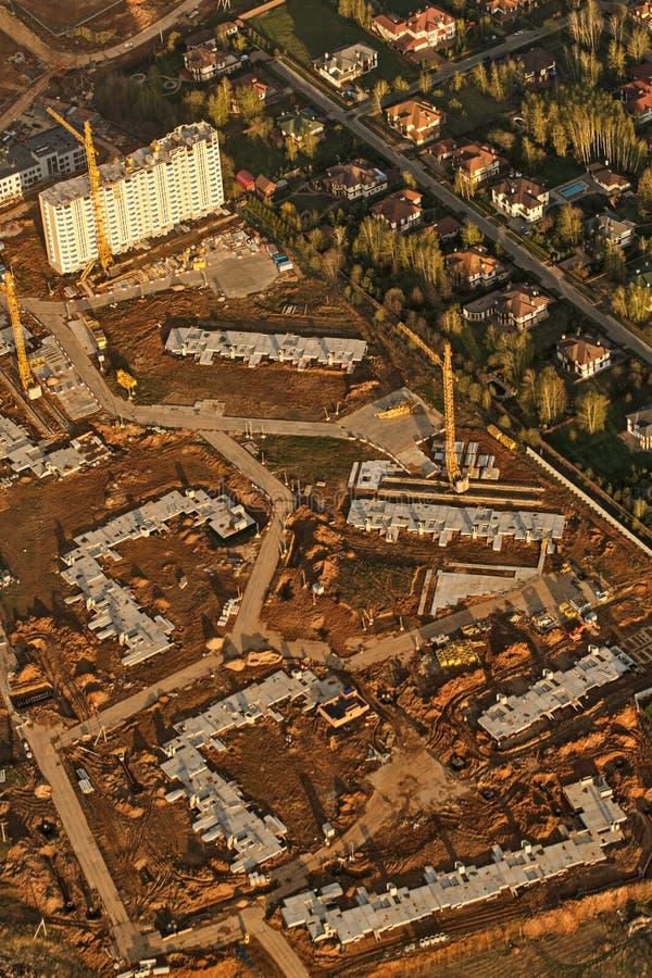 Download Miasto Krajobraz Od Samolotu Obraz Stock - Obraz złożonej z aerospace, droga: 53789239