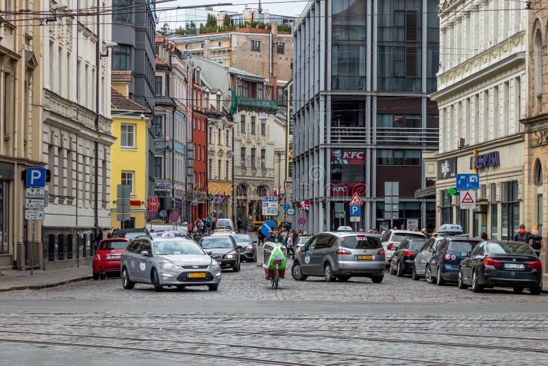 Miasto krajobraz ?otwa Riga zdjęcie royalty free