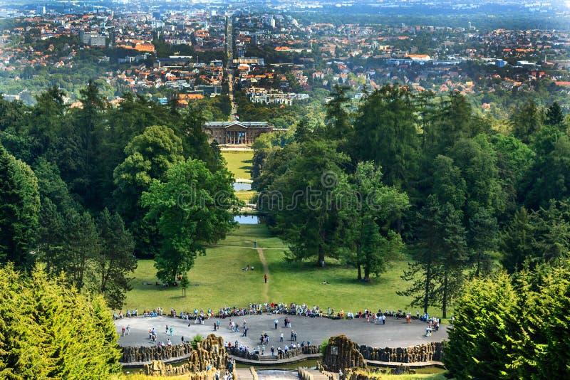 Miasto krajobrazowy Kassel, Niemcy obraz royalty free
