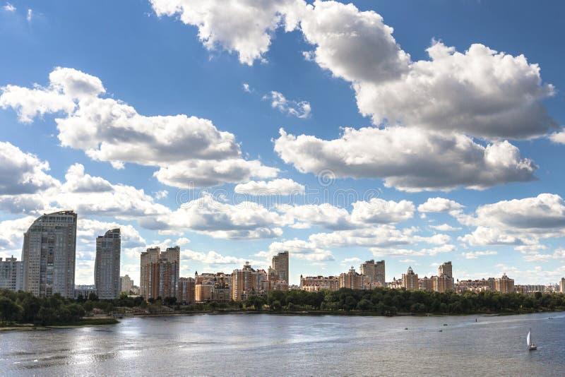 Miasto Kyiv w lecie zdjęcia royalty free