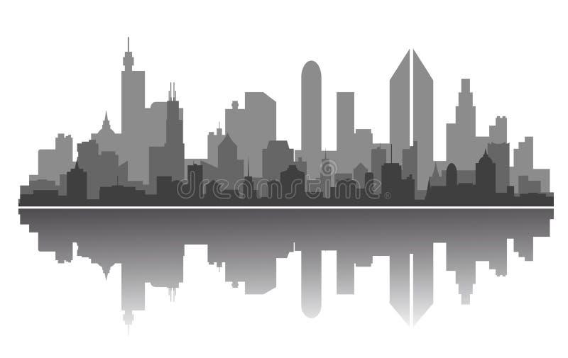 miasto linia horyzontu ilustracji