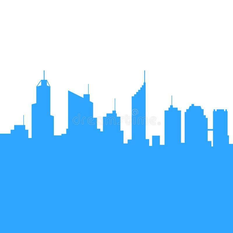 Miasto linii horyzontu sylwetki tło wektor ilustracja wektor
