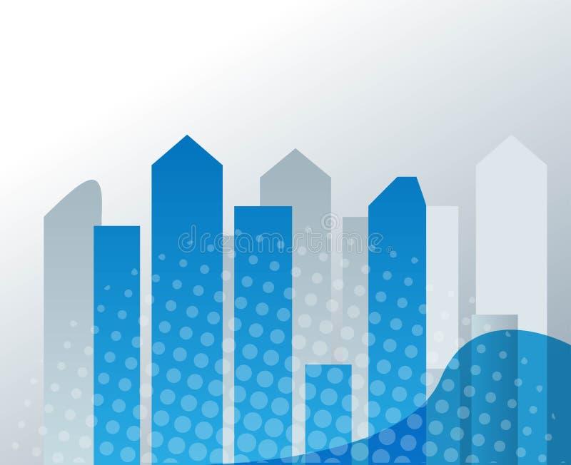 Miasto linii horyzontu wektoru ilustracja miejski krajobrazu Dzienny pejza? miejski w mieszkanie stylu ilustracji