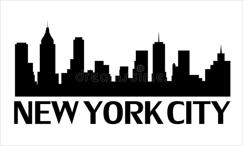 miasto logo nowy York royalty ilustracja