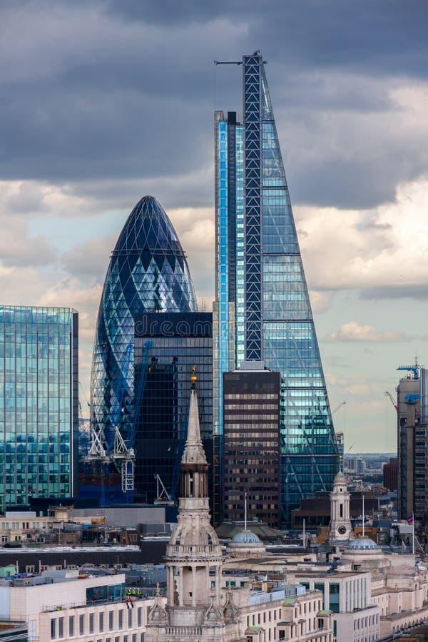 Miasto Londyńscy drapacze chmur fotografia royalty free