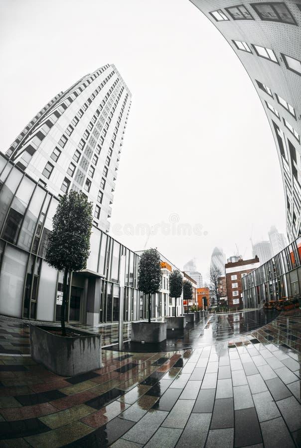 Miasto Londyński pieniężny gromadzki linia horyzontu zdjęcie royalty free