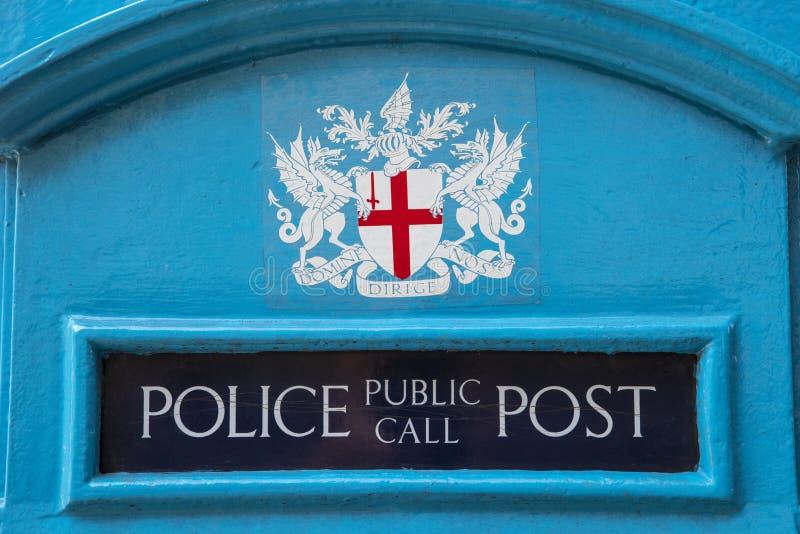 Miasto Londyn polici społeczeństwa wezwania poczta obrazy royalty free