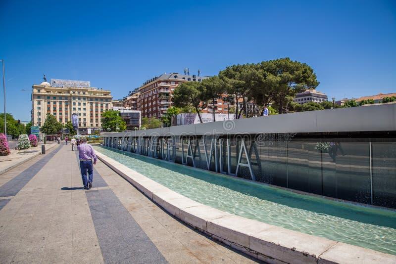 Miasto Madryt obrazy royalty free