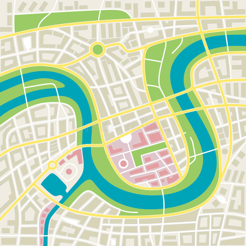 Miasto mapa royalty ilustracja