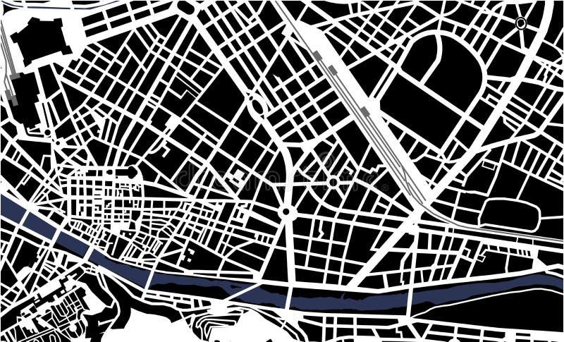 Miasto mapa Florencja, Włochy royalty ilustracja