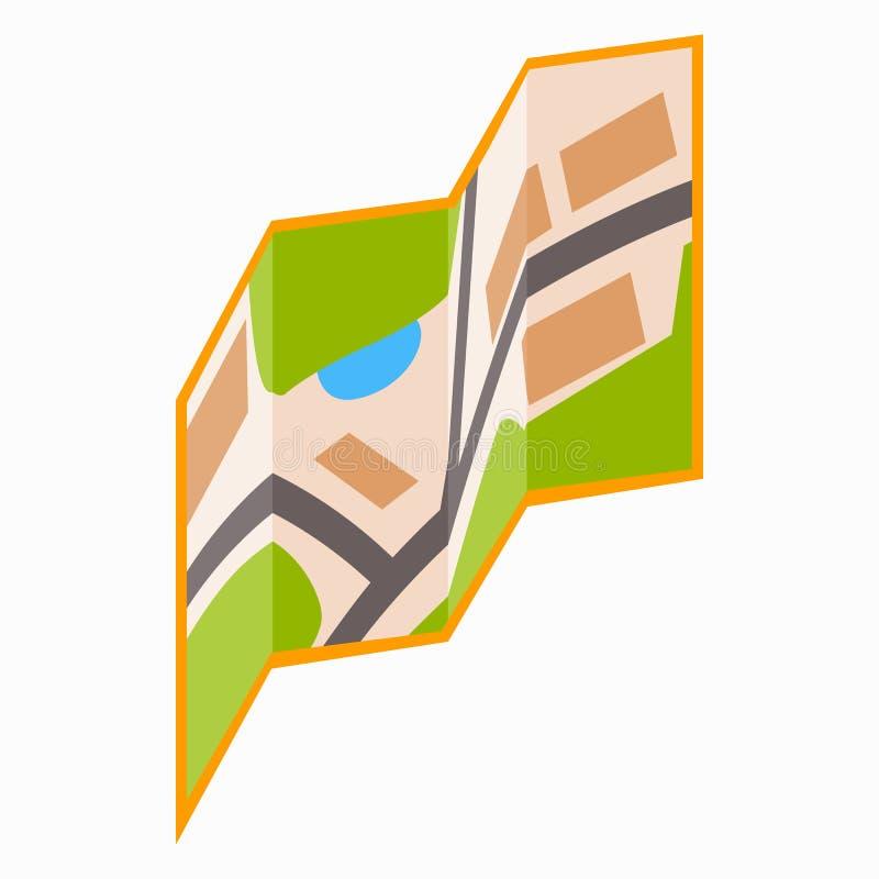 Miasto mapy ikona, isometric 3d styl royalty ilustracja