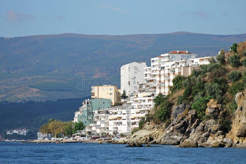 Miasto morzem zdjęcia royalty free