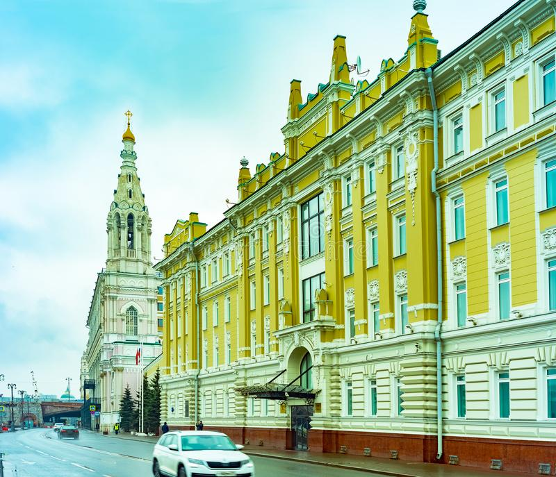 Miasto Moskwa Sofia bulwar, kościół Sophia mądrość bóg, Rosja obraz stock