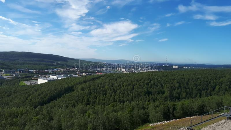 Miasto Murmansk zdjęcie stock